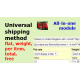 Universal delivery method (flat, weight, item, total, free)